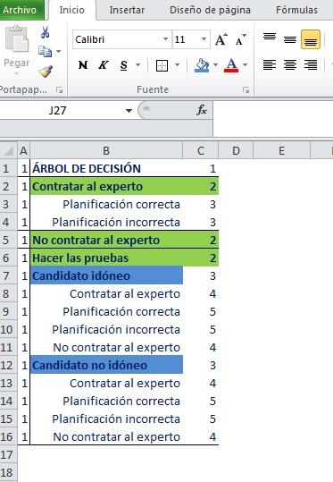 CREAR ARBOL DE DECISIÓN CON SMARTART Y VBA2