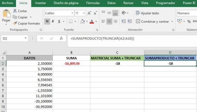 SUMAR LA PARTE ENTERA DEL CONTENIDO DE UN RANGO CON NÚMEROS DECIMALES3