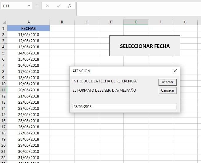 UTILIZAR UN INPUTBOX CON VBA PARA MODIFICAR DATOS