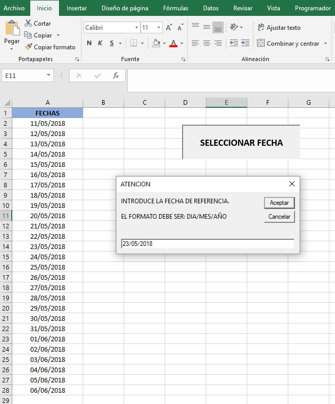 UTILIZAR UN INPUTBOX CON VBA PARA MODIFICAR DATOS2