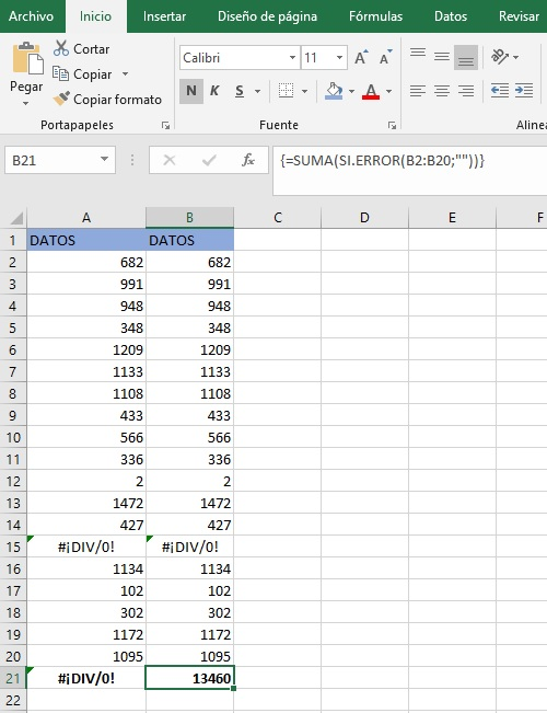 obtener suma de un rango que contiene errores1