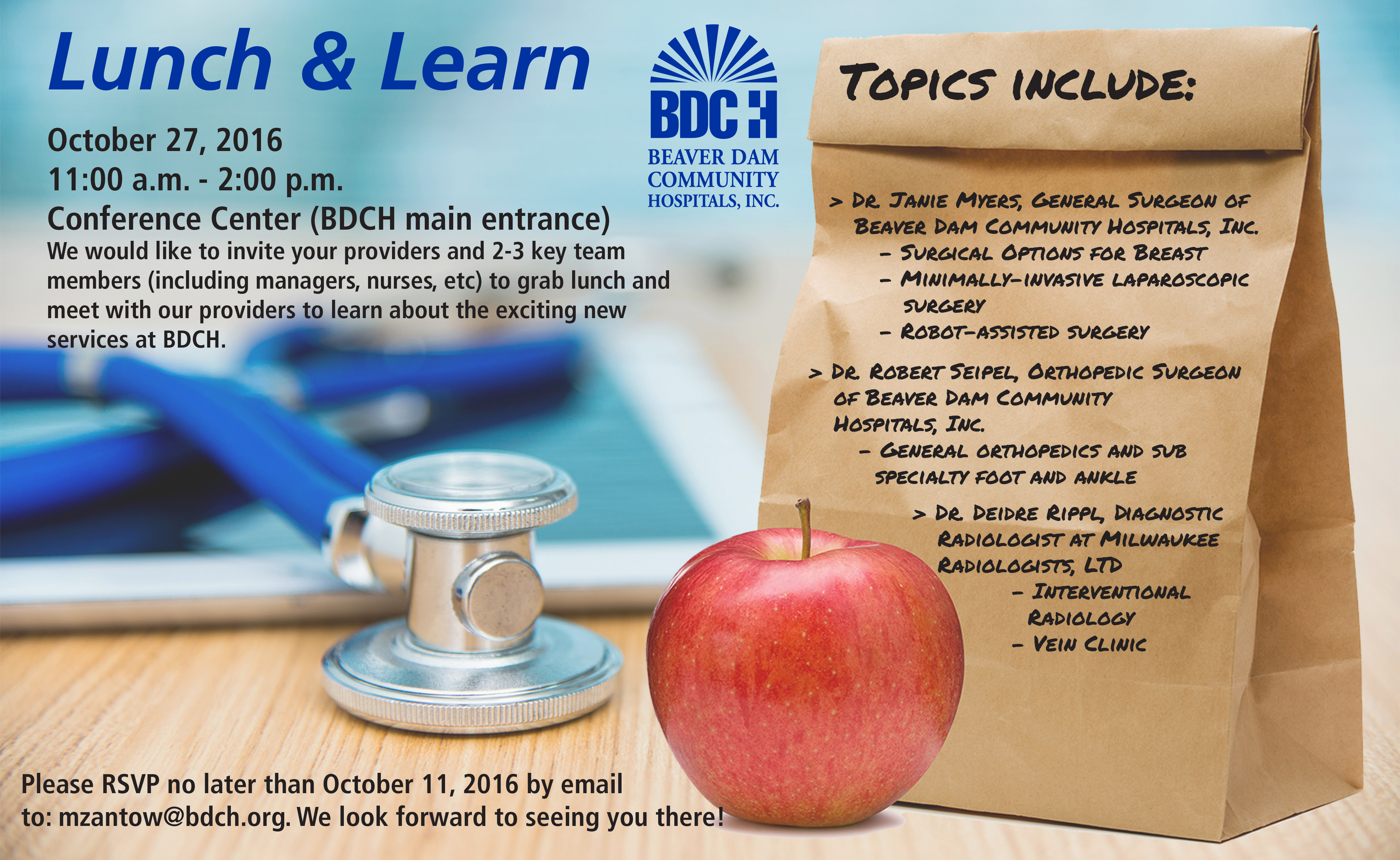 BDCH Lunch & Learn Event Flyer