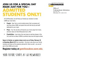 Go Milwaukee Mailer - Back
