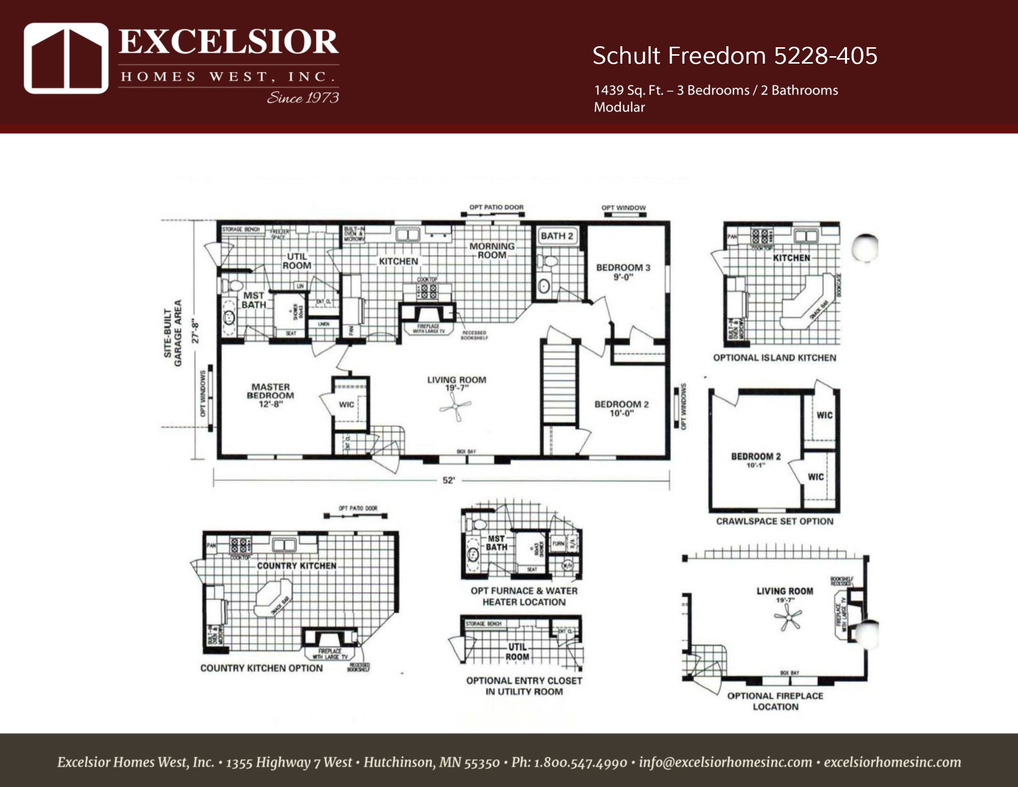 Schult Freedom 405 ModularManufactured Excelsior Homes