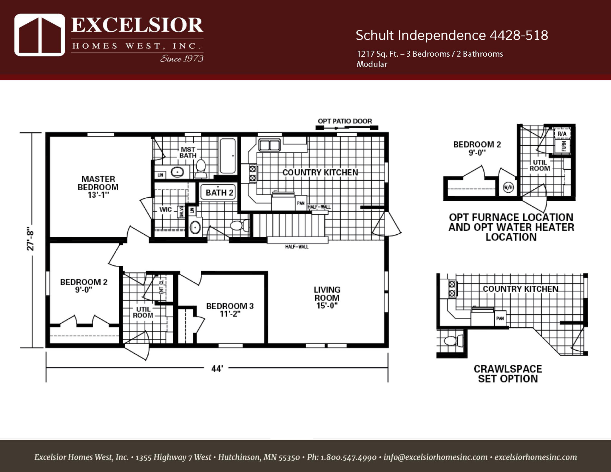 Build Kitchen Cabinet Doors Schult Independence 518 Home Plan | Excelsior Homes West, Inc.