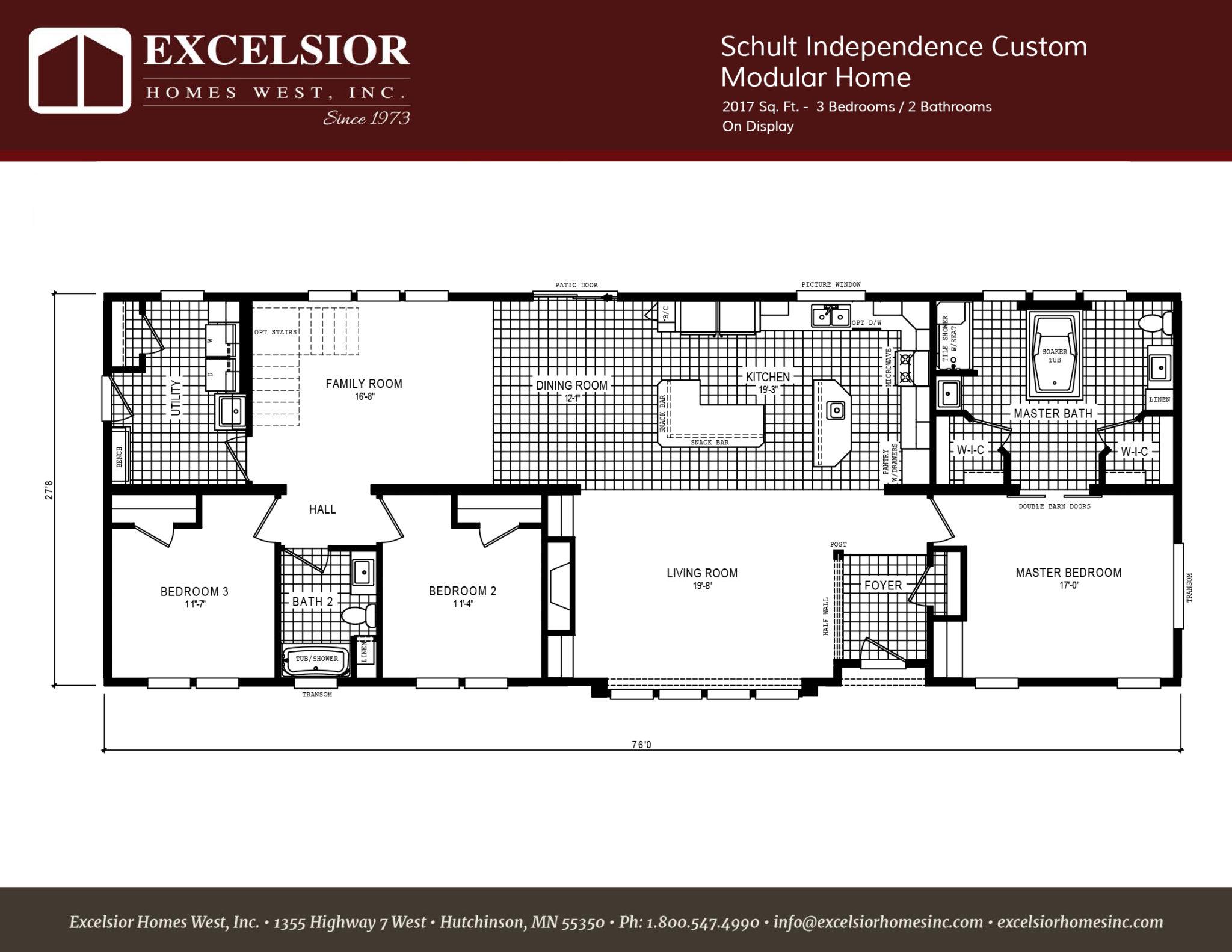 Schult Independence Custom Modular Home  Excelsior Homes