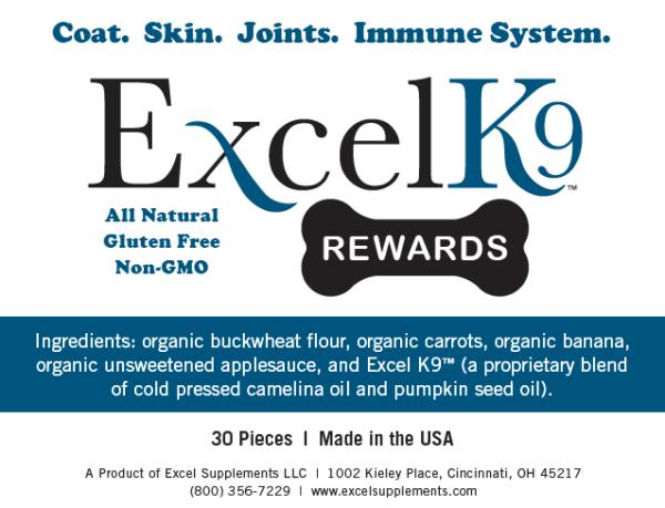 Excel K9 Rewards Web label