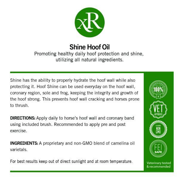 Shine Hoof Oil Label