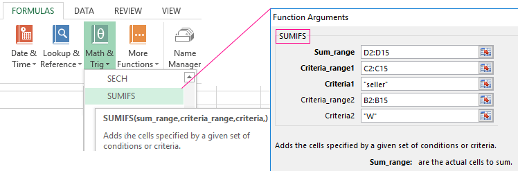 Examples Of Using Sumif Function With Some Criteria In Excel