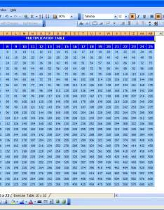 Multiplication table  also excel templates rh exceltemplate