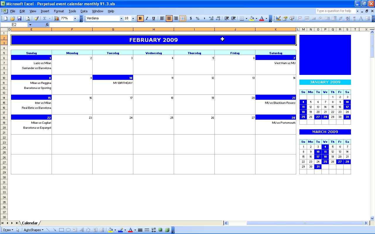 Daily Excel Worksheet