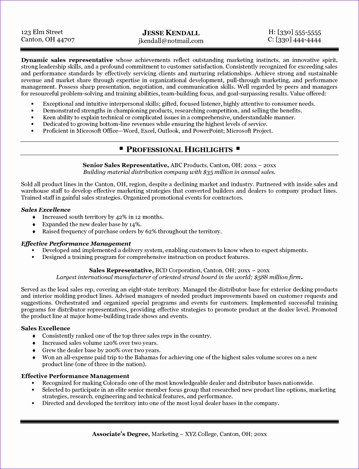 Best Resume Format For Sales Professionals 12 Account Receivable Template Excel Format