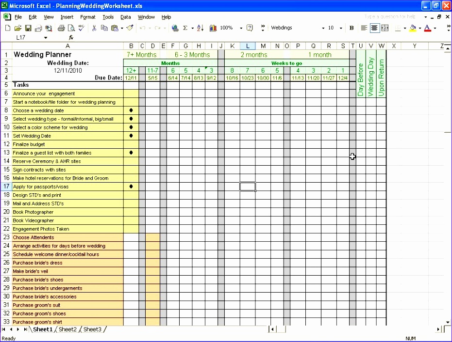 10 Wedding Budget Planner Excel Template