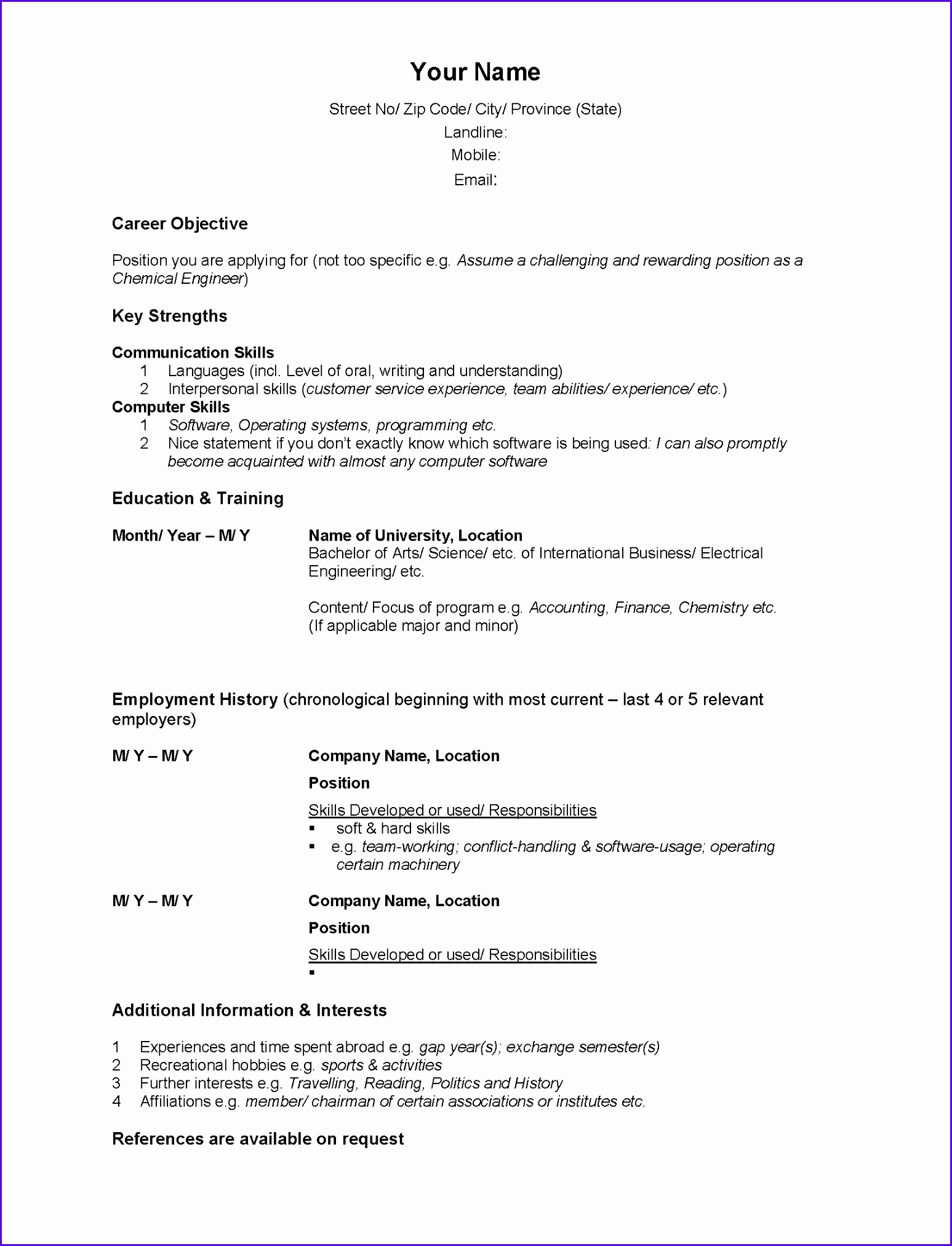 Resume Summary Statement Examples Customer Service 12 Fresh Statement Of Account Template Exceltemplates