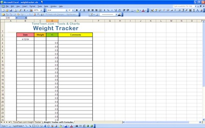 Weight loss tracker excel, diabetes diet pdf