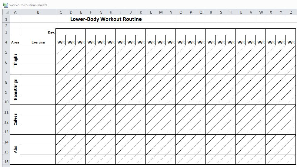 Workout Sheets  PetitComingoutpolyCo
