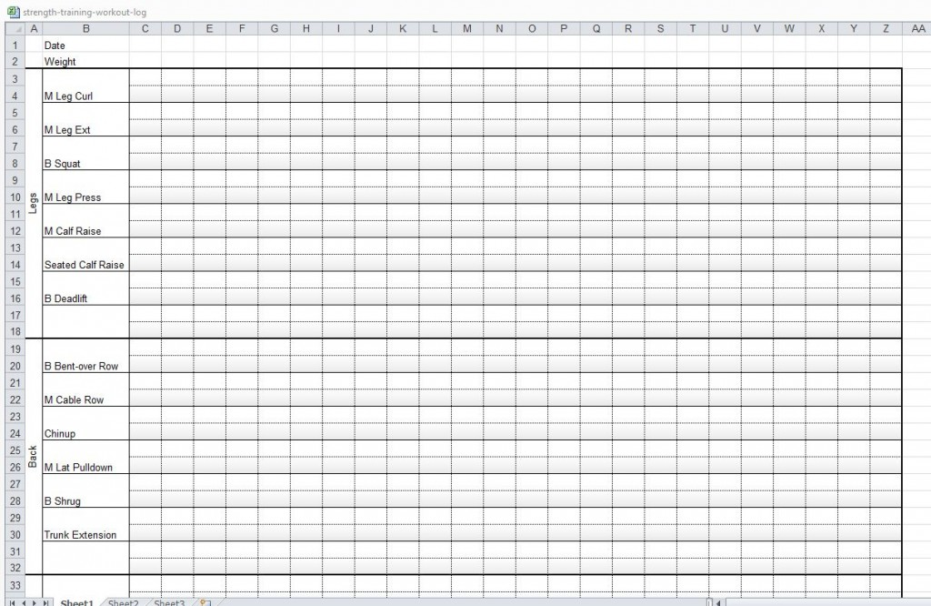 Workout Log Sheets Google Sheets Is An Easy Customizable
