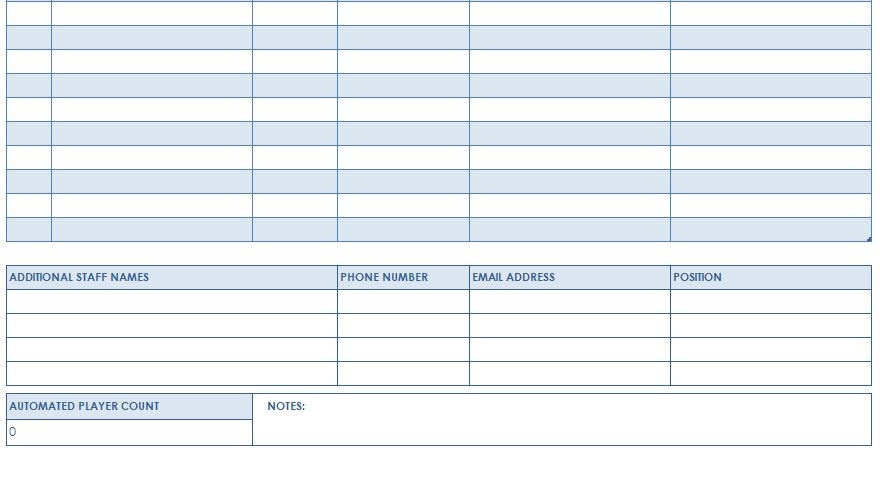 ... Blank Roster Sheet Football Roster Template   Blank Roster Sheet ...  Blank Roster Template