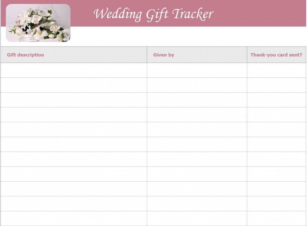 wedding gift tracker