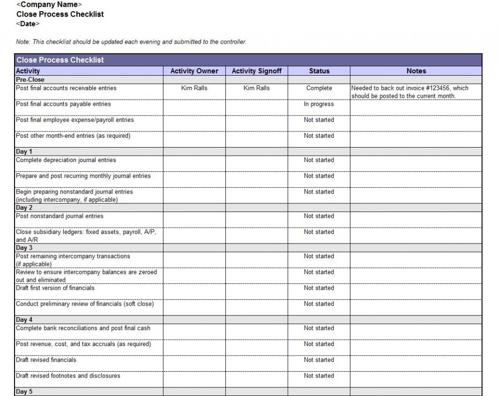 Free Download Program Mortgage File Checklist