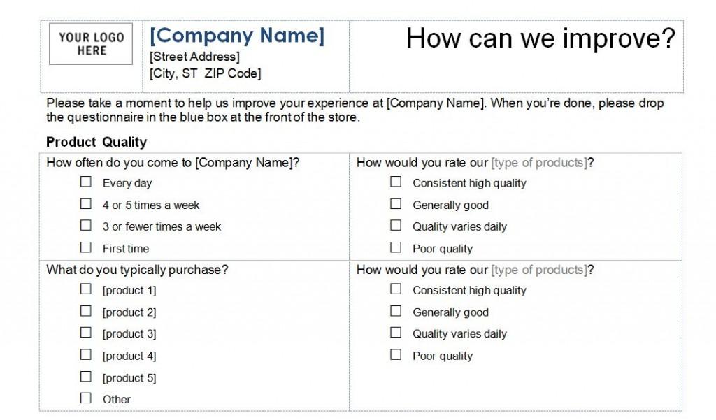 survey templates free