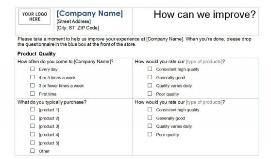 Doc804463 Customer Satisfaction Survey Template Customer – Blank Survey Template