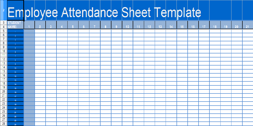employees attendance sheet in excel format