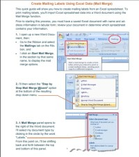 Mail merge using an Excel Template ~ Excel Tmp