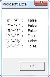 Option Compare Binary 例