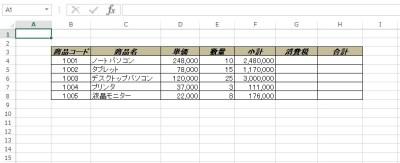 Formula プロパティ・FormulaR1C1 プロパティ 例1