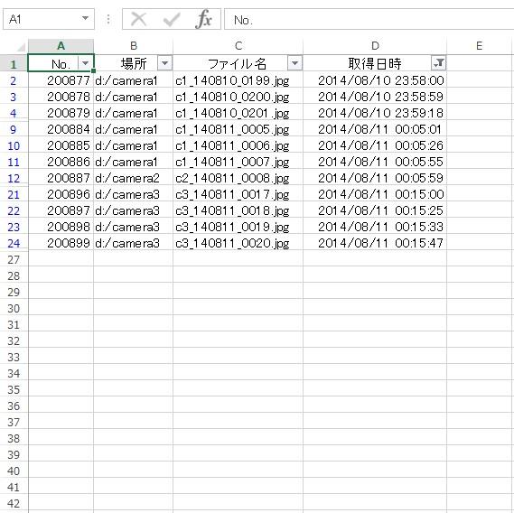 AutoFilter メソッド 使用例11_4