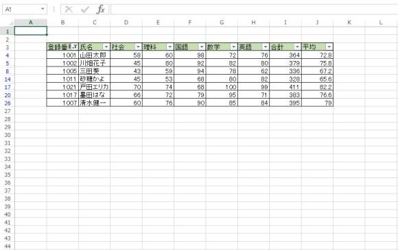 AutoFilter メソッド 使用例13_1
