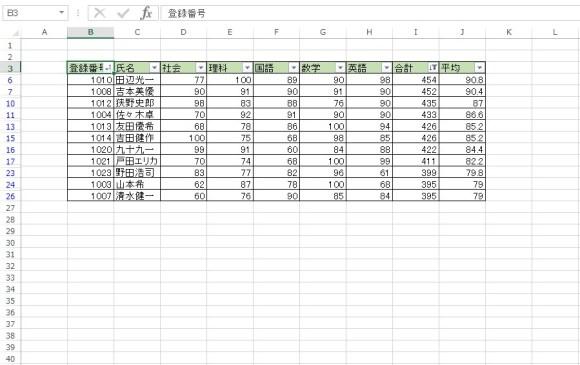 AutoFilter メソッド 使用例13_5