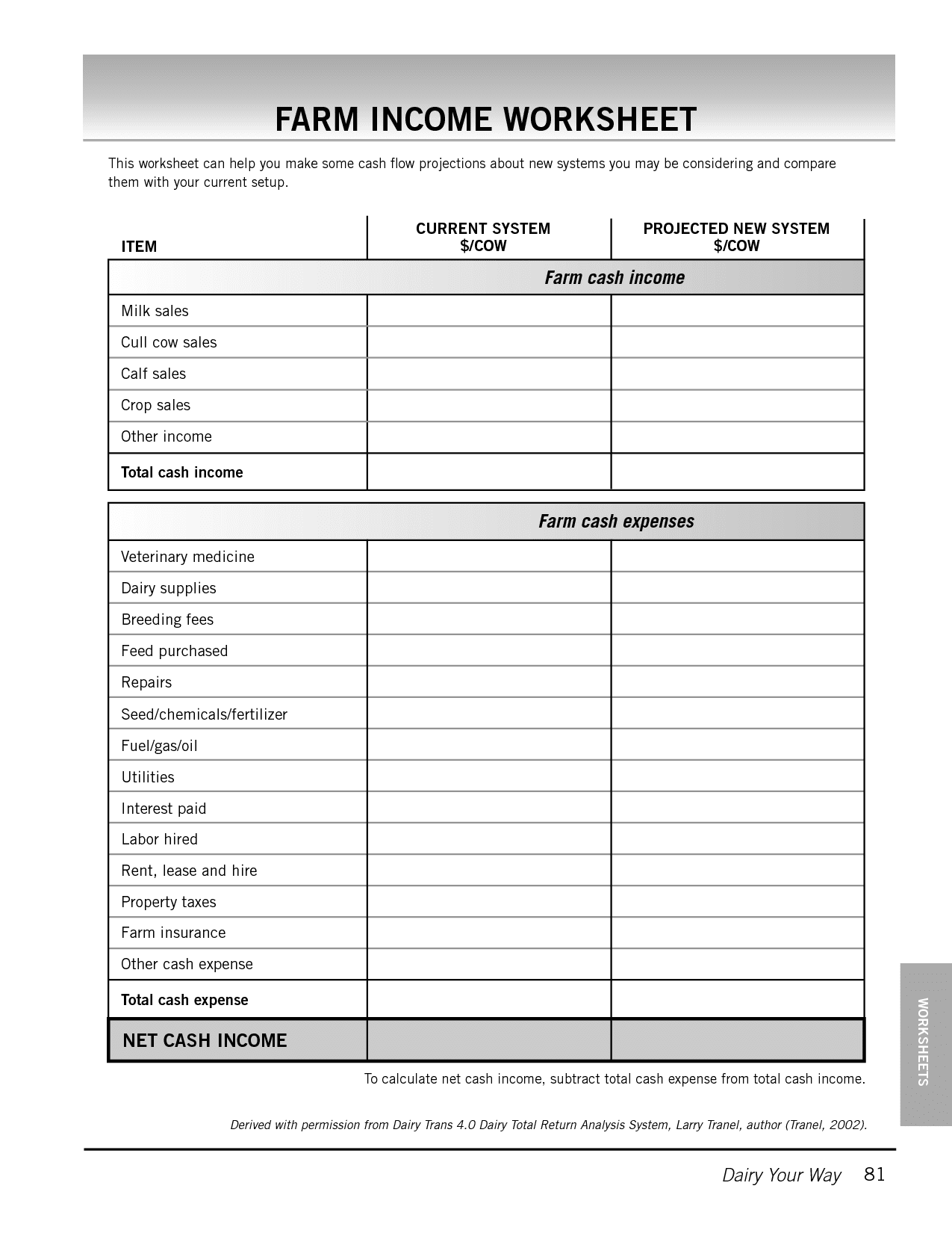 Income And Expense Statement Template