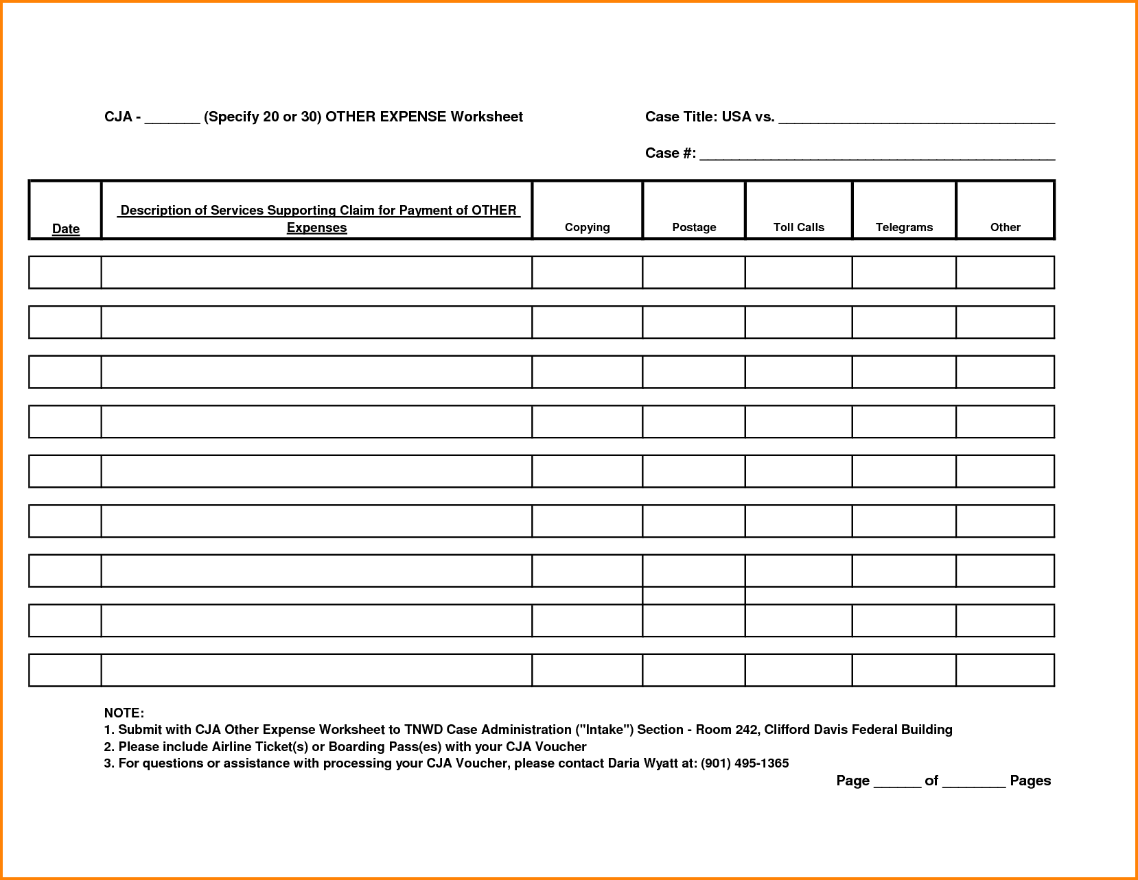Expense Report Forms Printable Expense Spreadsheet