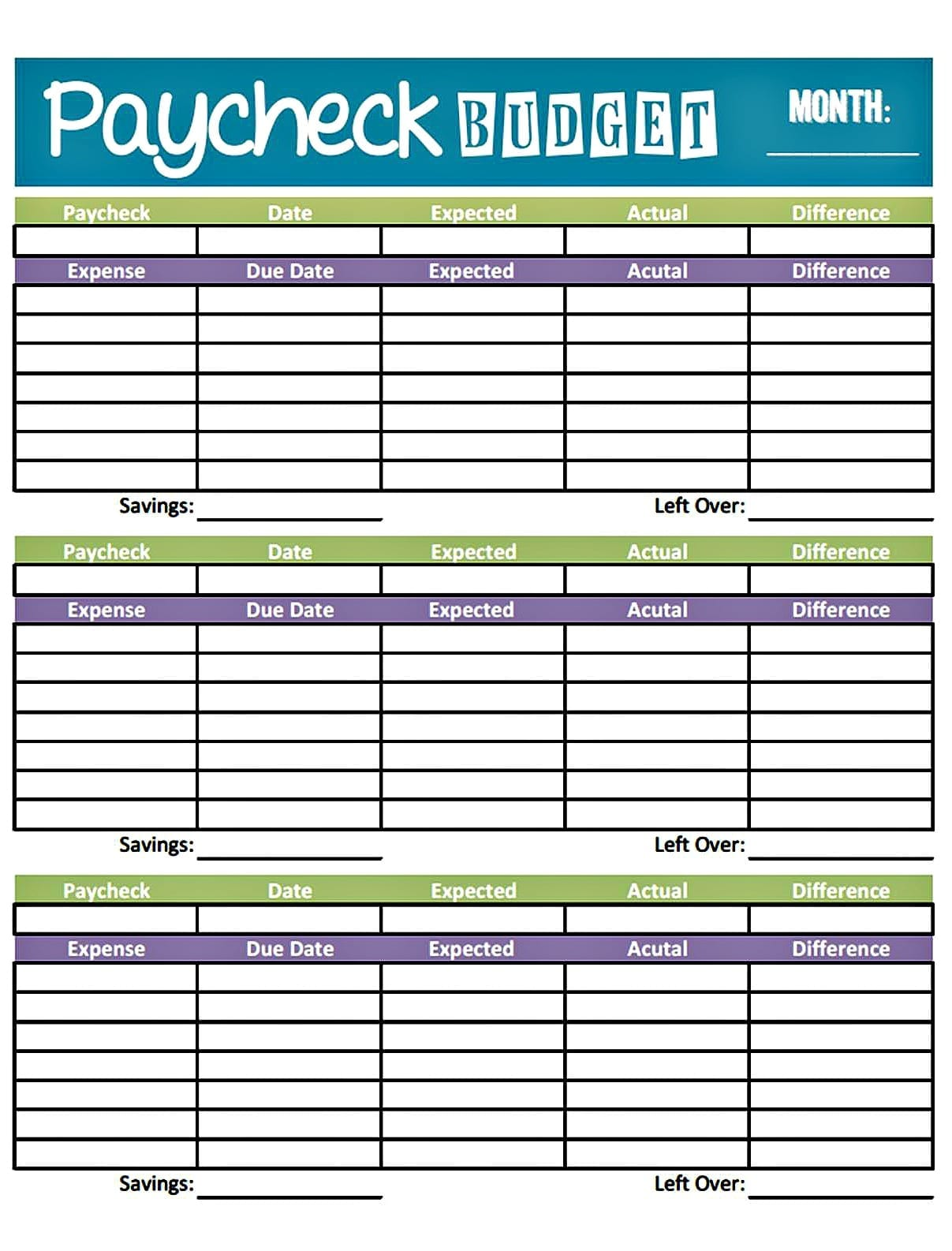 Free Monthly Budget Spreadsheet Template Free Spreadsheet