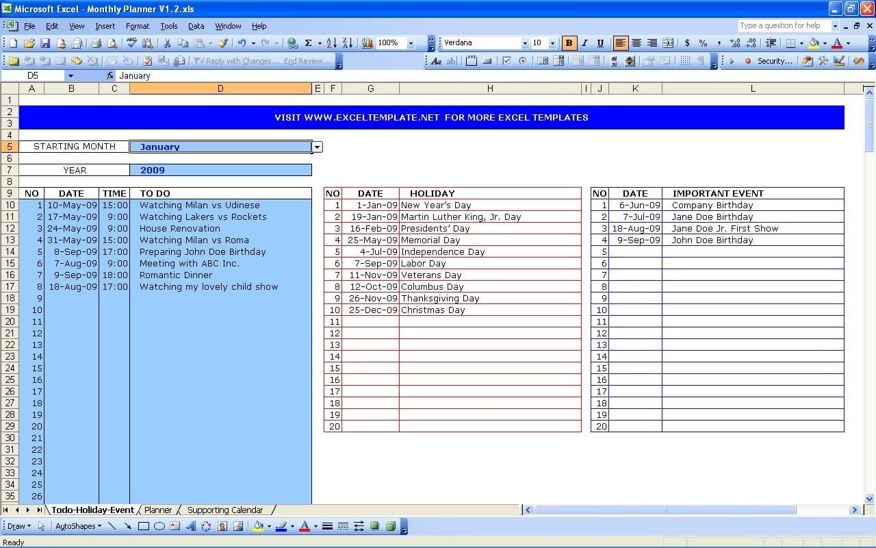 Task Spreadsheet Template