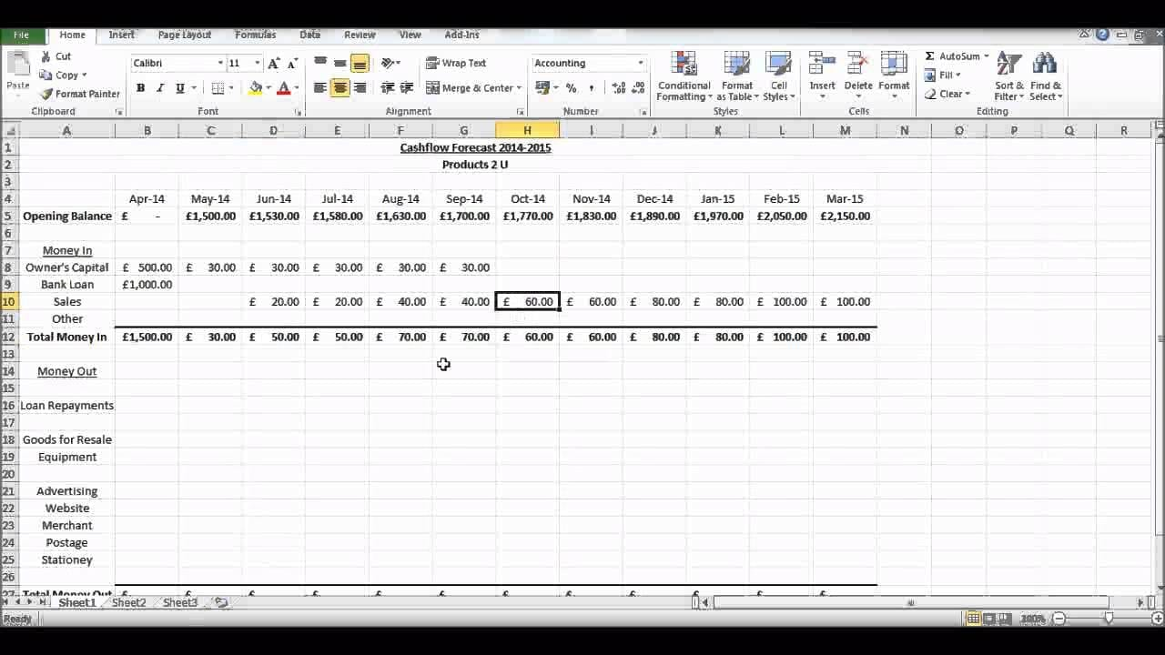 cash flow diagram creator lewis dot for elements discounted excel template spreadsheet ...