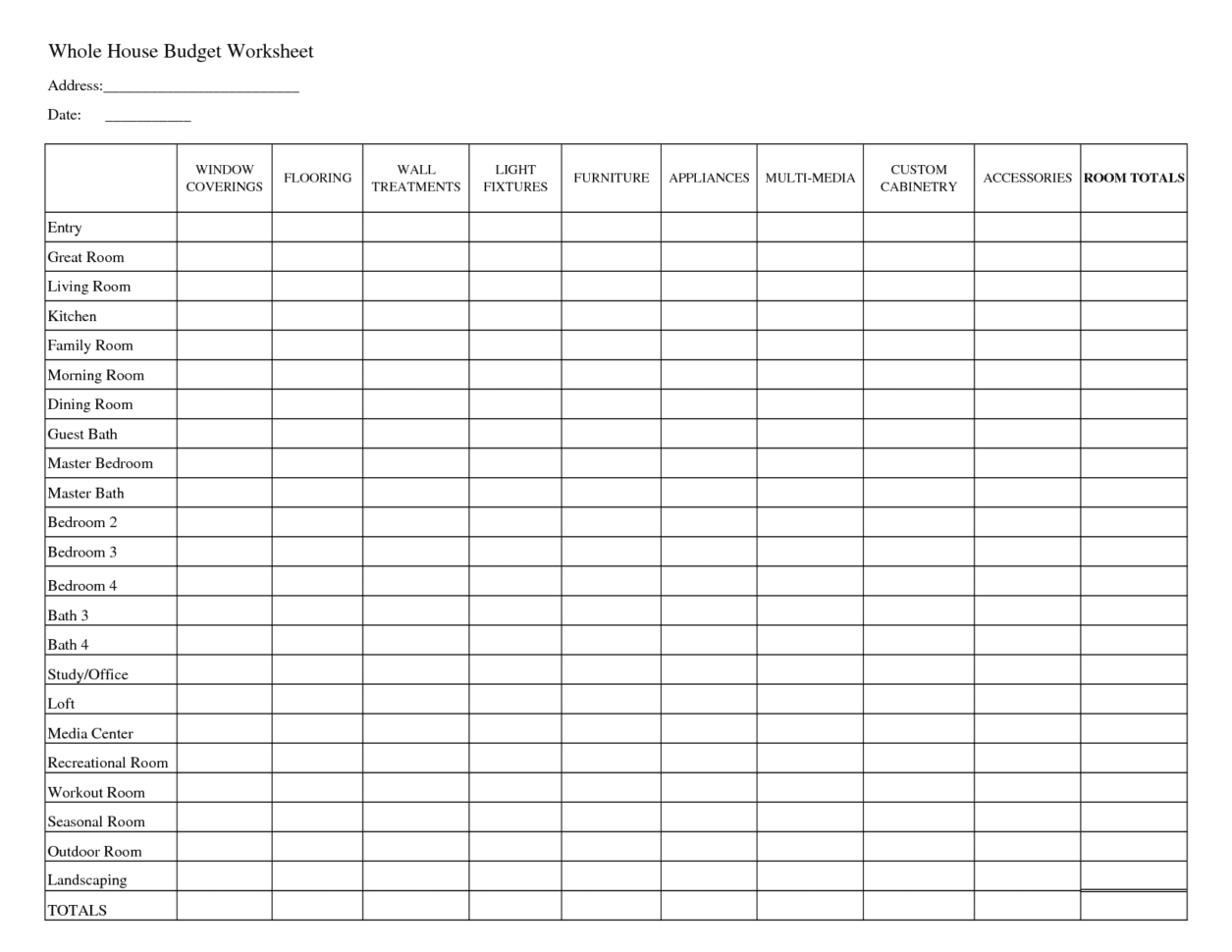 Template Budget Spreadsheet Spreadsheet Templates For