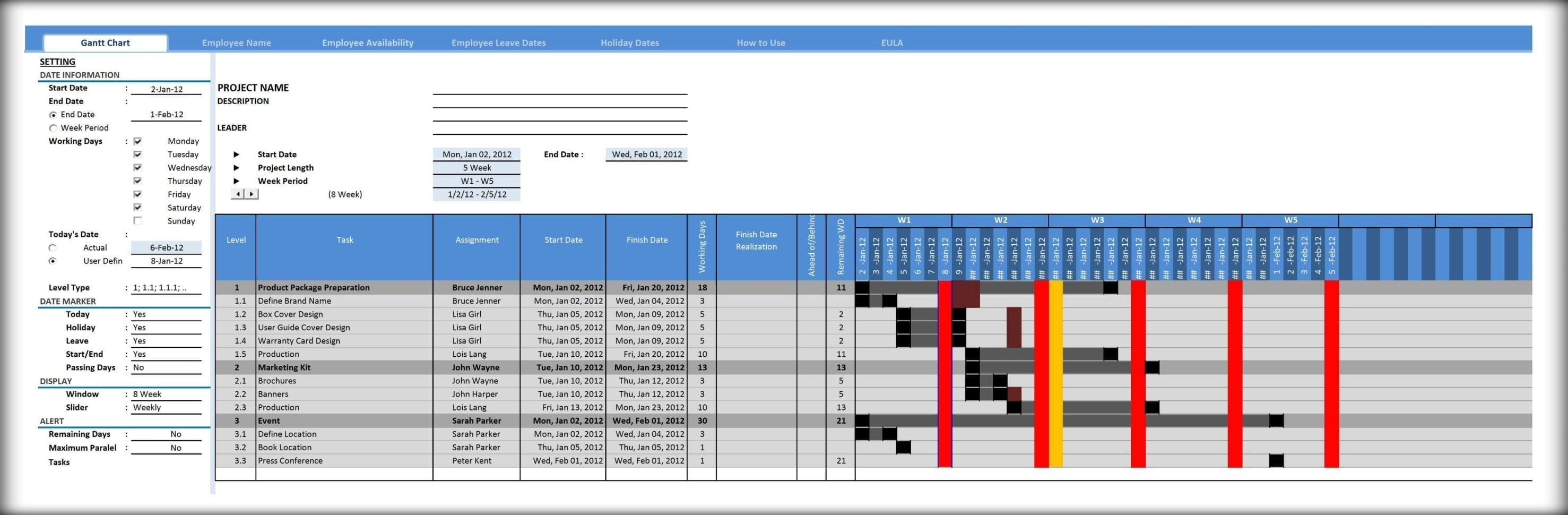 Excel Gantt Chart Template Xls Excel Spreadsheet Gantt Chart Template Spreadsheet Templates For