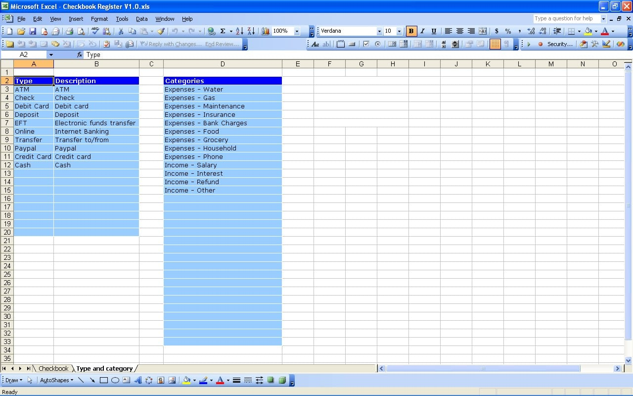 Excel Bank Account Template Accounting Spreadsheet Spreadsheet Templates For Busines Free