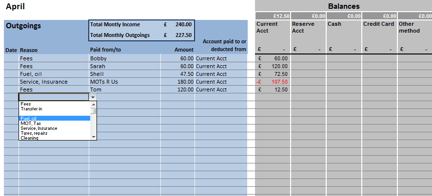 Simple Bookkeeping Format Examples Of Bookkeeping Spreadsheets ...