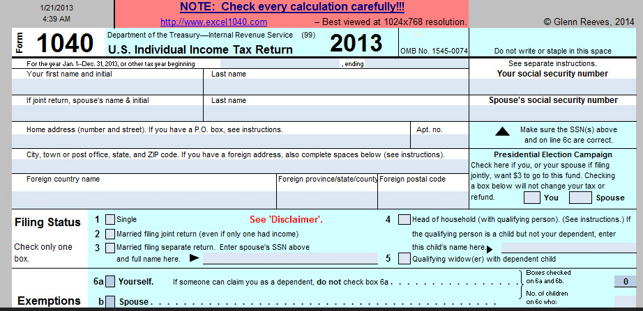 tax return excel template - April.onthemarch.co