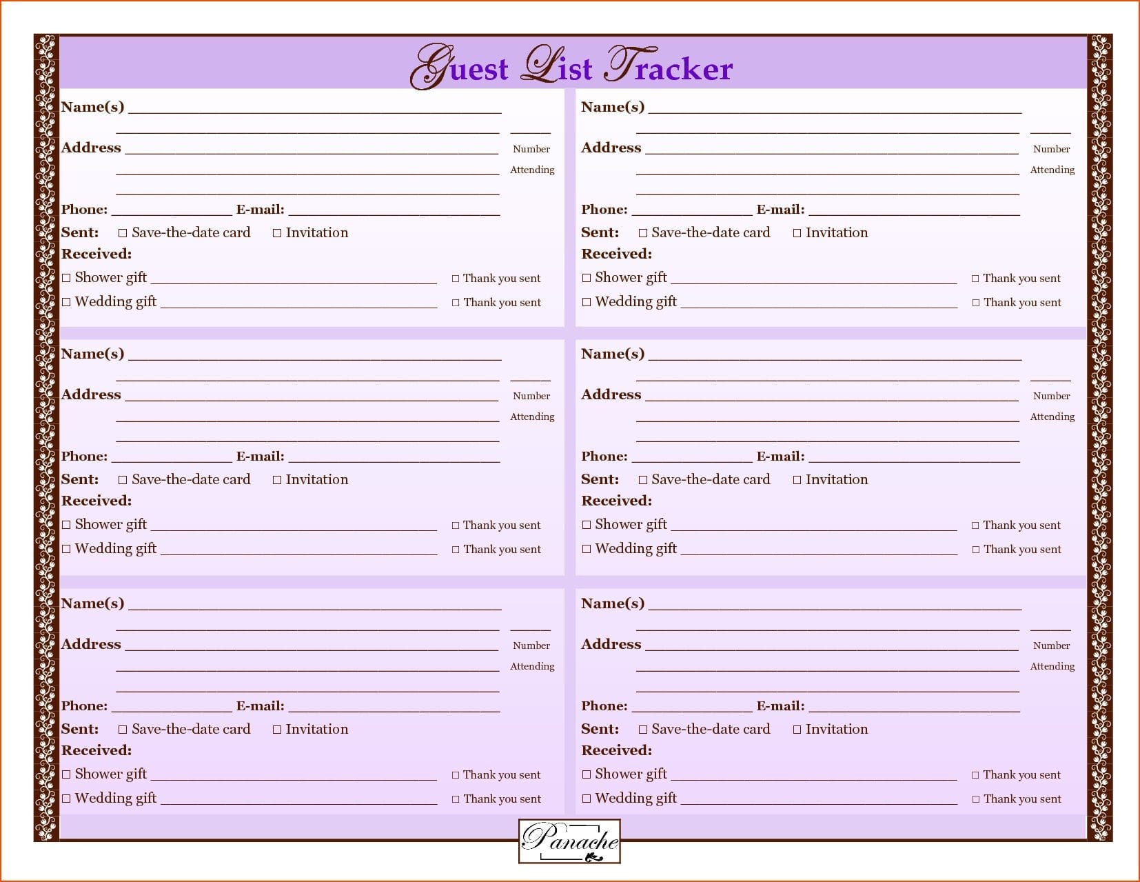 Wedding Budget Template Free 2