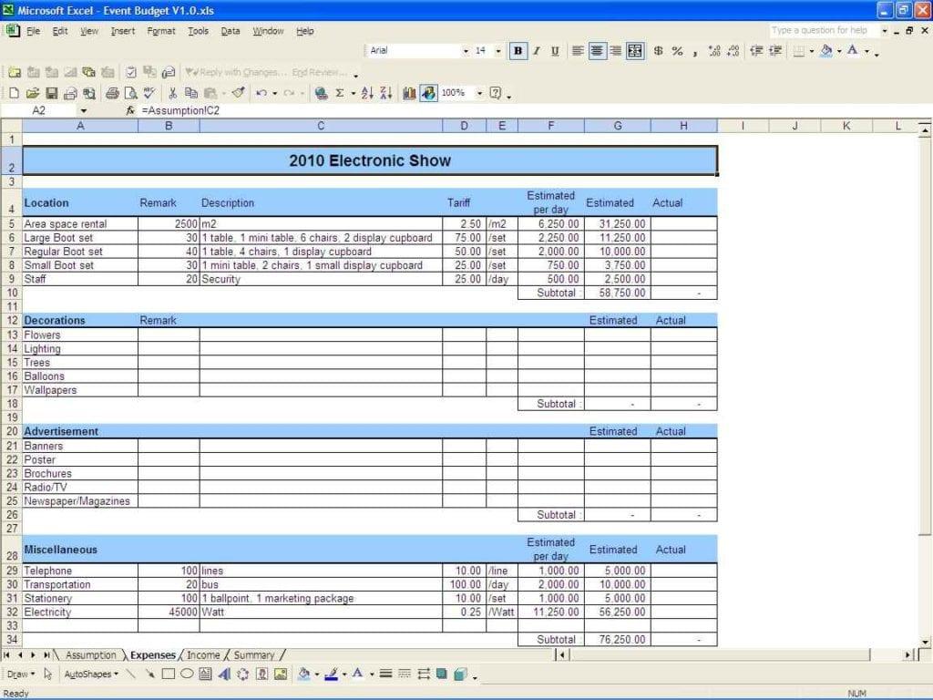 Sample Budget Spreadsheet Excel Spreadsheet Templates For