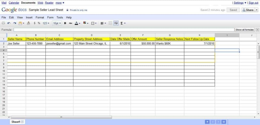 real estate investment spreadsheet
