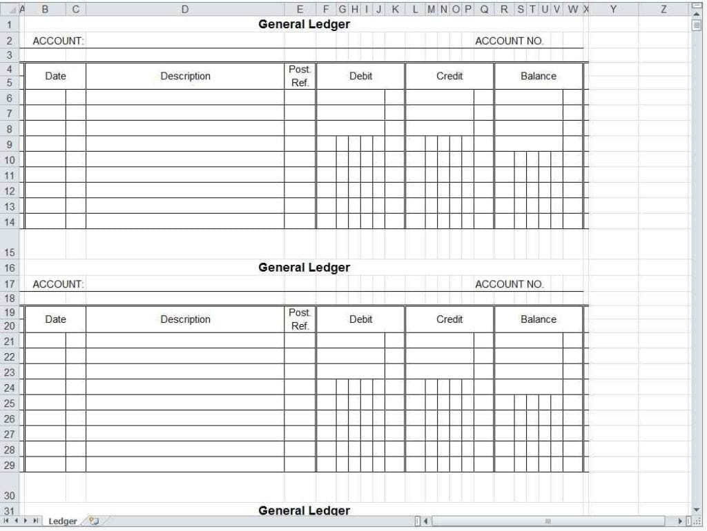 Small Business Accounting Spreadsheet Template Free 1
