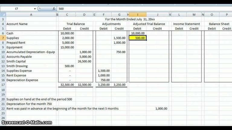 basic accounting worksheet — excelxo.com