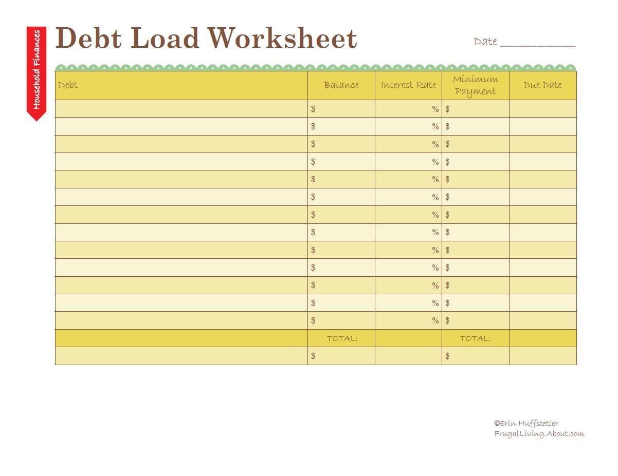 Debt Management Spreadsheet Spreadsheet Templates For