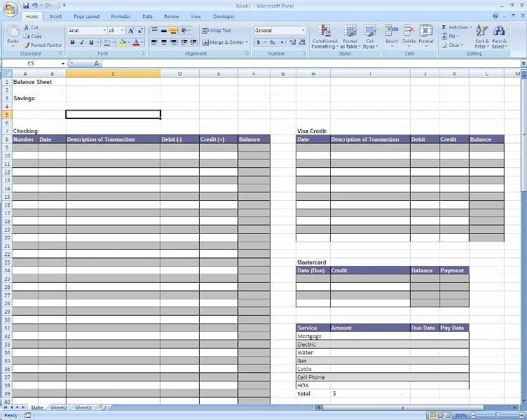 Income Statement Template Excel Balance Sheet Template Excel Excel ...